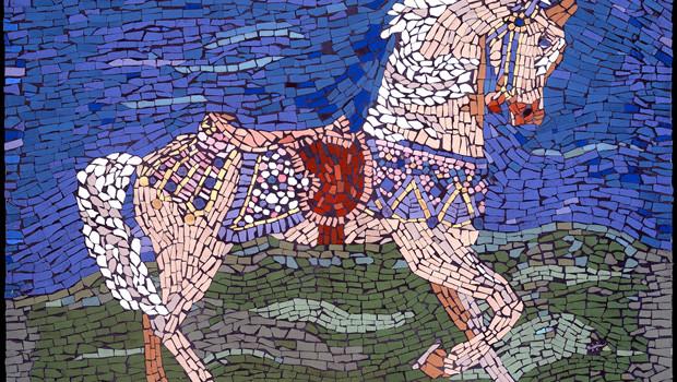 Palomino Prancer, Mosaic, Nina Tisara
