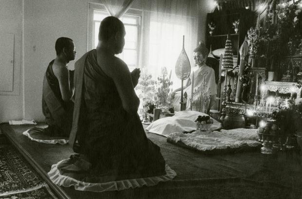 Worship, Buddhist Monks, Wat Lao