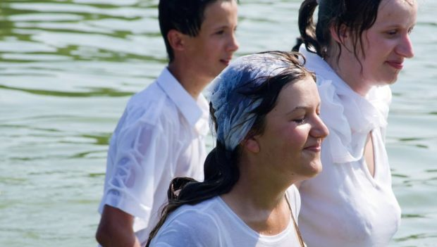 Baptism in the Ukraine, Photo by Laura Lyon